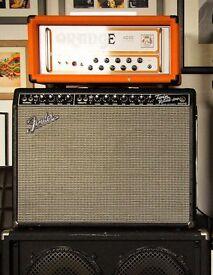 Fender Twin Rever Reissue Blackface TRRI w/ Half Power Switch