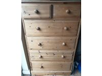 Chest of Drawers, Solid Pine, Handmade