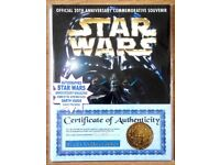 STAR WARS Autographed DARTH VADER 20th Anniversary Magazine