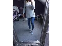 BNWT grey distressed jumper sizes 8-14