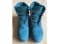 "Ladies Timberland Premium Blue Ink Nubuck 6"" Boot - AS NEW CONDITION - UK 6/EUR 39/US 8"