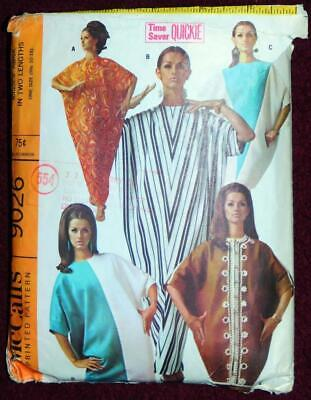 Abba Caftan McCall 9026 One Size 10-18 Vintage 1967 Pattern COMPLETE Quickie