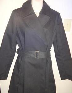 NEW!  BANANA REPUBLIC Ladies M TRENCH COAT Spring Raincoat Black - Long New - GTA OAKVILLE 905-510-8720