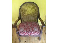 Mid Century wicker back chair