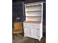 *FREE DELIVERY* Stunning Antique Oak Cream Chalk Welsh Dresser ~ Shabby Chic(Farmhouse Sideboard)