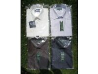 "Mens shirts x 4 (two size 16"" & two 16.5""). Unworn in Packets. £15 for all."