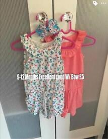 9-12 Months next clothing girls like new