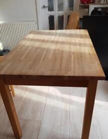 IKEA solid wood dining table