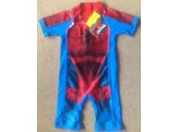 BNWT Spiderman UV Sun Protection Swimsuit 4 - 5 Years
