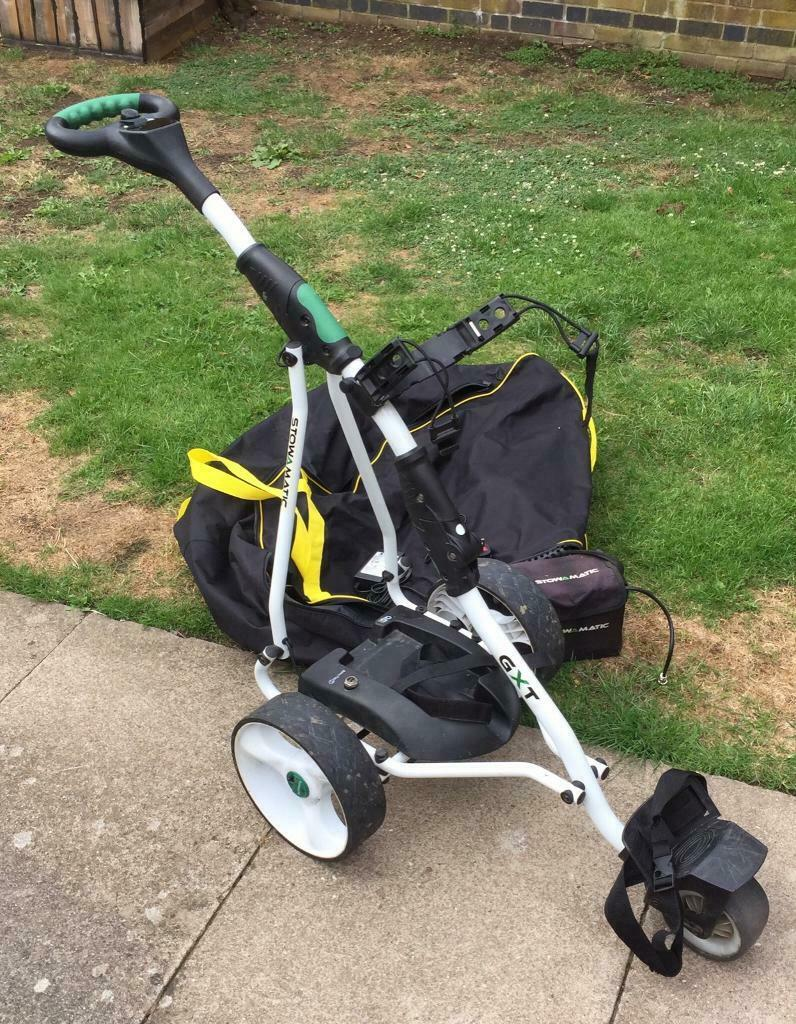 Stowamatic GTX electric golf trolley comes with a battery & charger and a  new carrying bag | in Hemel Hempstead, Hertfordshire | Gumtree