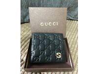New mens genuine leather gucci Gucci wallet gg GG