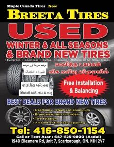 used tires and new tires.
