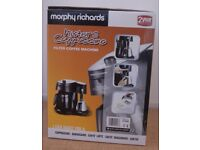 Morphy Richards 47008 mister cappuccino 10 cup filter coffee maker machine