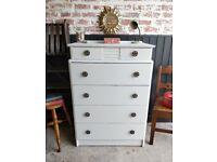 Vintage chest of drawers, Dresser, Bedroom furniture, Painted chest of drawers, Chest of drawers
