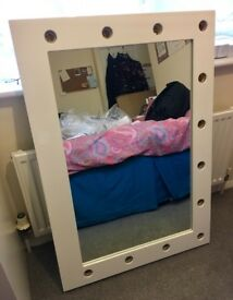 Anastasia White High Gloss Mirror (Grand) (Illuminated Mirrors) make up dressing table mirror