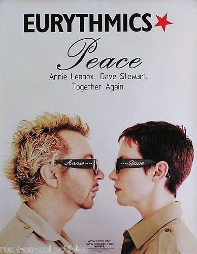Eurythmics 1999 Peace Tour Original Promo Poster