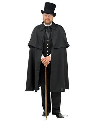 Dickens Cape Men's Victorian Costume Black Caroling Christmas Carol Steampunk (Kostüme Dickens Christmas Carol)