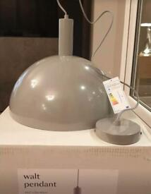 Grey 'Walt' Pendant Ceiling Light NEW BOXED RRP £65