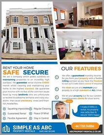 Rent your property but stay in control, let us guarantee your rent and flexibility.