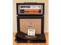 Orange Rockerverb 50w head and 1x12 Cabinet black