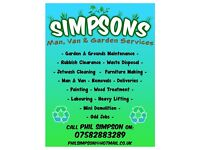 Garden Maintainance - Clearance - Waste Disposal - Man & Van - General Labour -Painting - Jetwashing
