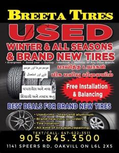 Used tires and good quality brand new chines and all major brands Tires.