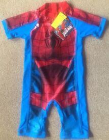 BNWT Spiderman UV Sun Protection Swimsuit 4 - 5 Years