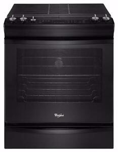 """BRAND NEW UNCRATED - Whirlpool 30"""" Black Gas Range TAX INCLUDED"""
