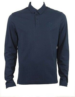 Versace logo long sleeve top navy
