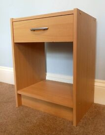 Small Bedside Cabinet / Bedside Table1 Drawer with MetalHandleH20in/51cm W19.5in/49.5cm D15.5in/39cm