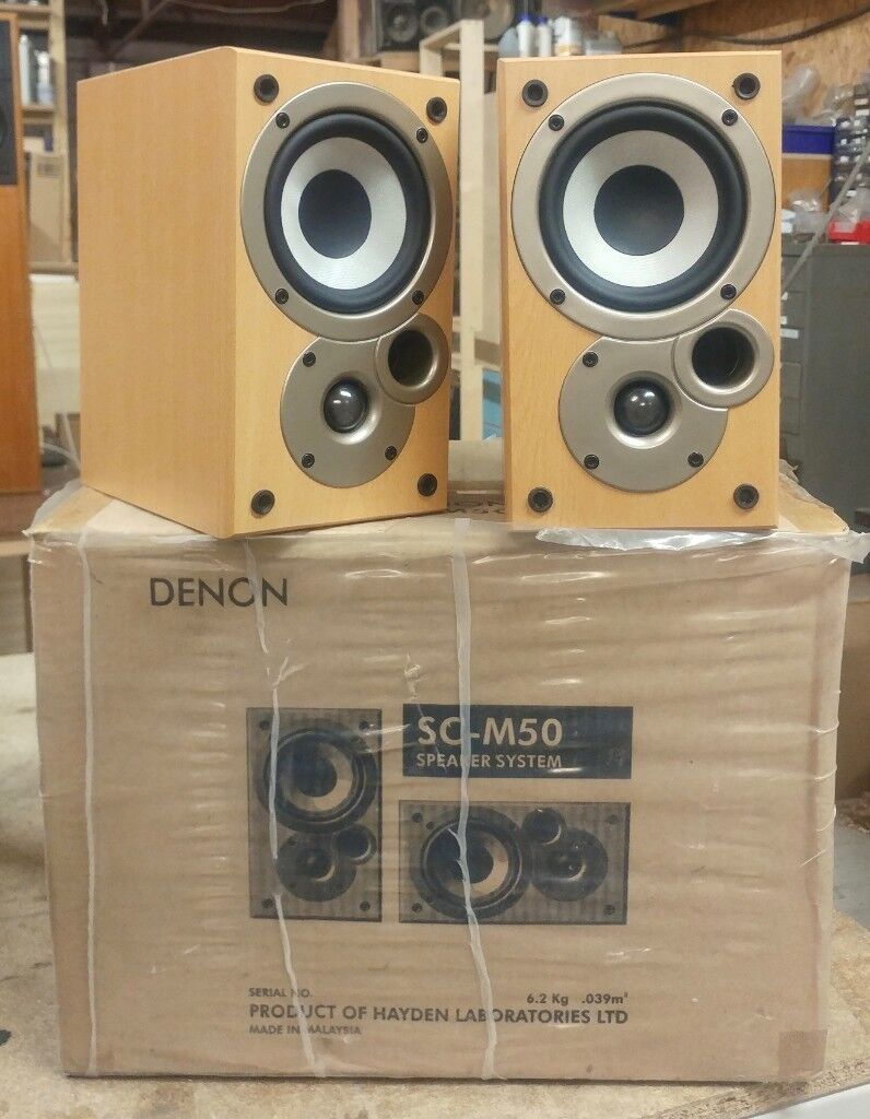 Denon Mission SC M50 Bookshelf Speakers Boxed As New