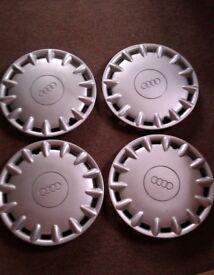 "4x Audi 15"" steel/wheel trims"