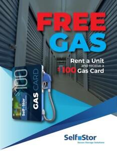 FREE Gas card with storage unit rental.