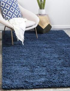 "NEW Unique Loom Solid Shag Collection Navy Blue 2 x 3 Area Rug (2' 2"" x 3')"