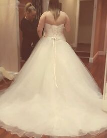 Ronald Joyce Size 22 Princess Dress with hoop (can go up or down a few sizes)