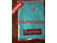 supreme reflective l/s tee size M