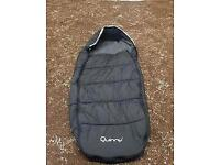 QUINNY buzz Footmuff Black in Excellent condition!
