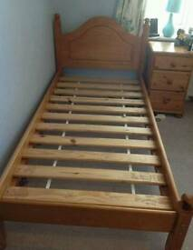 Solid pine double bed with top quality mattres