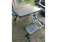 Fold up Camping chairs & Table