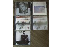 Leonard Cohen - collection of five rare live CD albums. These are commercially released CDs