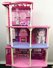 Barbie 3 Story Dream Townhouse Doll House withy Elevator