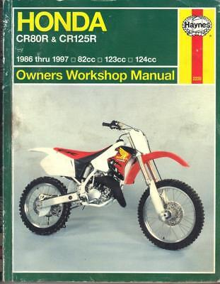 HONDA CR80 R,CR80 RB EXPERT,CR125 R,MOTOCROSS HAYNES MANUAL 1986-1997