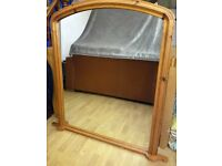 Large Arched Wall Mounted Mirror