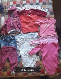 18-24 months girls clothes 12 clothes
