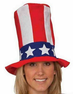 USA TOP HAT 4th July patriot uncle sam adult kids halloween costume - Children's Top Hat