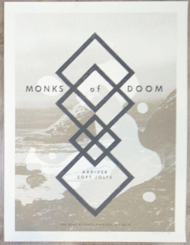 2019 Monks of Doom - Chicago Silkscreen Concert Poster S/N by Crosshair