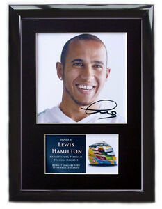 Lewis Hamilton F1 FRAMED Signed Photo Display Formula One Autograph 2013#1