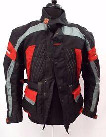 Men's SCOTT Black Red Grey Textile Motorcycle Jacket XL