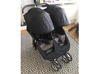 City mini double buggy . Baby jogger twin pushchair. Stroller