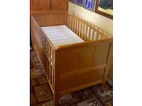 Childs Cot Bed (oak wood)